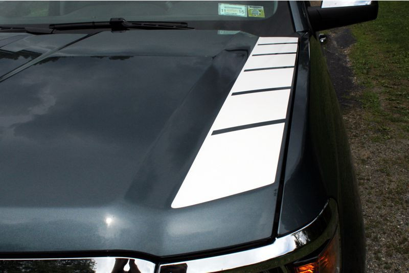 Outer Side Hood Stripe Graphics - 2014-2015 Silverado