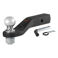 "CURT Loaded Forged Ball Mount with 2 Inch Receiver Tube (Includes pre-torqued 2 5/16"" trailer ball, pin & clip)"