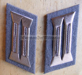 sbbs012 - 9 - pair of Prison Service Strafvollzug non-Officer Uniform Collar Tabs