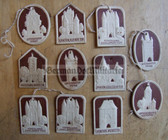 om219 - 11x WHW Winterhilfswerk German Medieval City Gates - cardboard tinnies series
