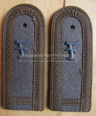 sbfd009 - FELDDIENST FAEHNRICHSCHUELER YEAR 1 - all branches of the army and border guards - pair of shoulder boards