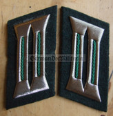 sbbs015 - 29 - Volkspolizei Police non-officer Wachtmeister ranks Collar Tabs - Dress Uniform