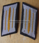 sbbs016 - pair of NVA Signals enlisted EM Collar Tabs - Dress Uniform - colour coded older type