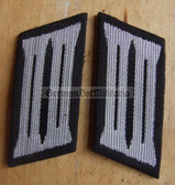 sbbs017 - 11 - pair of NVA Pioniere Engineers enlisted EM Collar Tabs - Dress Uniform - colour coded older type