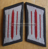 sbbs019 - pair of NVA Artillery enlisted EM Collar Tabs - Dress Uniform - colour coded older type