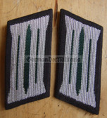 sbbs020 - pair of NVA Rear Services enlisted EM Collar Tabs - Dress Uniform - colour coded older type