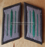 sbbs021 - 13 - pair of Grenztruppen GT Border Guards enlisted EM Collar Tabs - Dress Uniform - colour coded
