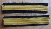 om635 - 2 - Volksmarine - Unterleutnant - Navy VM - pair of sleeve rank stripes