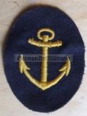 om005 - Maat Volksmarine Kuestendienst - Costal Service - sleeve patch - blue