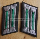 sbbs028 - 10 - pair of Grenztruppen Officer GT border guards Uniform embroidered Collar Tabs