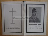 opc392 - Wehrmacht Gefreiter Mathias Goedtner - kia near Worssobina in Russia in 1942 - Wound Badge - death card