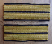 om681 - Volksmarine - Oberleutnant Officer Sleeve rank bands - pair