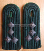 sbbpfd024 - 2 - HAUPTMANN - Bereitschaftspolizei BePo Riot Police - subdued field uniform pair of shoulder boards - Felddienst