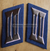 sbbs030 - 2 - Transportpolizei TraPo Transport Police non-officer Collar Tabs - Dress Uniform