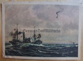 kmpc037 - Kriegsmarine shooting down enemy plane at sea postcard
