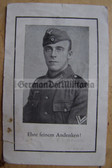 opc400 - Obergefreiter Josef Adam - died in Austria in June 1944 - death card - several awards mentioned