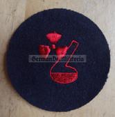 om687 - Volksmarine Chemischer Dienst Chemicals Specialist Sleeve Patch for EM & NCO - blue