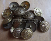 sbbs038 - 15 - Volksmarine Dress Uniform Buttons - price is per button