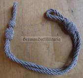 om724 - 8 - silver metallic chin strap cord NVA Stasi Grenztruppen Volkspolizei GST officer visors