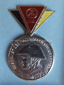 om965 - 3 - East German NVA  Reservist Medal in Silver with Steel Helmet