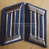 sbbs040 - 3 - Transportpolizei TraPo Transport Police officer Collar Tabs - Dress Uniform