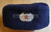 wo028 - c1960s Feuerwehr Fire Fighter Ushanka Winter hat -  made by VEB Dresdner Hutfabriken