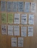 od017 - 27 - East German S-Bahn and railway tickets as pocket fillers for your NVA uniforms
