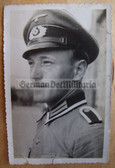 wpc006 - Wehrmacht Unteroffizier with visor hat Portrait photo