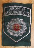 om088 - 7 - ABSCHNITTSBEVOLMAECHTIGTER ABV SLEEVE PATCH for shirts - Volkspolizei VP VoPo