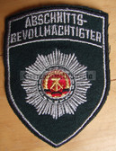 om197 - 4 - ABSCHNITTSBEVOLLMAECHTIGTER ABV SLEEVE PATCH for jackets - VP Police - 1x rp0