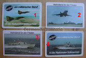 opc421 - 9 - military East German credit card size calendars as pocket fillers for your NVA uniforms