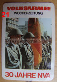 opc421 - military East German credit card size calendars as pocket fillers for your NVA uniforms