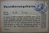 ssd001 - very unusual insurance card from the HJ Hitler Youth with due stamps