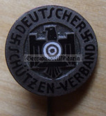 om779 - DEUTSCHER SCHUETZENVERBAND DSV - NRA type shooting association - enamel membership stickpin