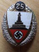 om776 - DEUTSCHER REICHSKRIEGERBUND KYFFHAUESER DRKB  - 25 years silver honour needle enamel stickpin