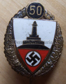 om777 - DEUTSCHER REICHSKRIEGERBUND KYFFHAUESER DRKB  - 50 years golden honour needle enamel stickpin
