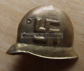 om785 - NSDAP National Socialist Sympathy Supporter Stahlhelm lapel stickpin