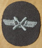 om132 - NVA FLUGZEUGMECHANIKER - aircraft mechanic - qualification sleeve patch
