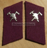 sbbs046 - Voluntary Feuerwehr Fire Fighters non-officer Collar Tabs - Dress Uniform