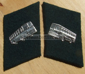 sbbs045 - East German Public Transport Bus Driver Collar Tabs - Dress Uniform