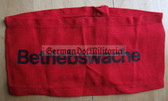 wo032 - 2 - East German BETRIEBSWACHE - factory works security - armband