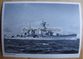 kmpc001 - Kriegsmarine Light Cruiser Kreuzer postcard