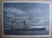 kmpc008 - Kriegsmarine Cruiser Kreuzer Emden postcard