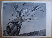 lwpc011 - Luftwaffe Messerschmitt Me109 shoots down French Morane fighter postcard
