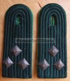sbbpfd023 - OBERLEUTNANT - Bereitschaftspolizei BePo Riot Police - subdued field uniform pair of shoulder boards - Felddienst