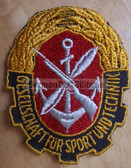 om097 - GST SLEEVE PATCH - East German paramilitary youth organisation