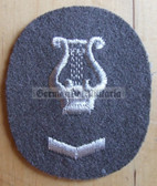 om092 - NVA Army Militärmusiker Music Troops qualification sleeve patch