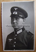wpc032 - Wehrmacht soldier studio portrait photo with visor
