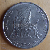 om282 - 4 - East German 10 Marks issued coin - c1972 Buchenwald KZ concentration camp