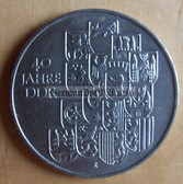 om284 - East German 10 Marks issued coin - c1989 40 years anniversary of the DDR